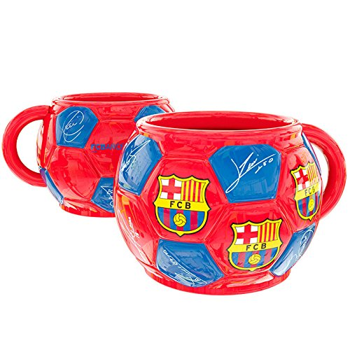 Taza FC Barcelona balon firmas ceramica