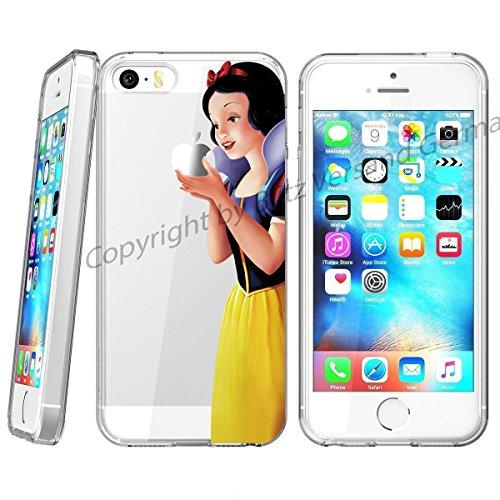 Handyhülle Disney Comic Cartoon Figuren kompatibel für iPhone XR Schneewittchen Snow Withe Schutz Hülle Case Bumper transparent M4 Disney Iphone