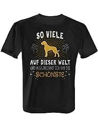 Schönste Dogge Damen T-Shirt Spruch Geschenk Idee Rasse Hunde Besitzer Deutsche