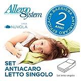 Set Antiacaro Allergosystem: coprimaterasso Antiacaro con cerniera per letto singolo...
