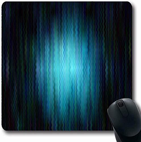 Luancrop Mousepad Oblong Bubble Künstlerische dunkelblaue Muster Linien Ovale Club Abstract Bend Wogende Unschärfe Verschwommenes Design Büro Computer Laptop Notebook Mauspad, Rutschfestes Gummi