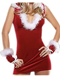 Lukis Damen Bustier Kostüm Dessous Reizwäsche Etuikleid Babydoll Weihnachten