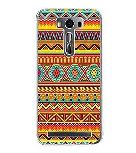 Multi Colour Pattern 2D Hard Polycarbonate Designer Back Case Cover for Asus Zenfone Selfie ZD551KL