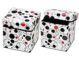 #6: RED HOT Premium Designer Foldable Storage Stool Set of 2
