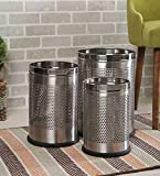 """Parasnath Stainless Steel Perforated Open Dustbin/Stainless Steel Garbage Bin/Small, Medium and Large/ - 6 Litre (7""""x10…"""
