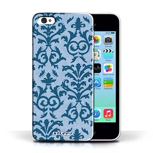 iCHOOSE Print Motif Coque de protection Case / Plastique manchon de telephone Coque pour Apple iPhone 5C / Collection Motif de défilement / Vert Bleu