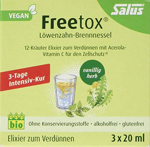 Salus Freetox Löwenzahn-Brennnessel 12-Kräuter-Elixier zum Verdünnen, 60 ml -