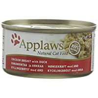 Applaws Cat Food Tin Chicken and Duck, 70g, Pack of 24