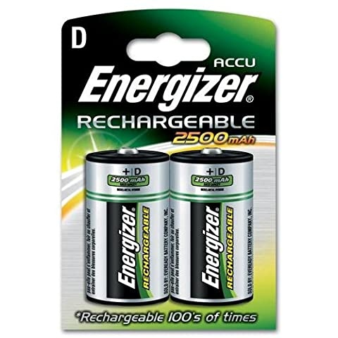 Energizer, Rechargeable D Battery 2500mah Pk Of 2