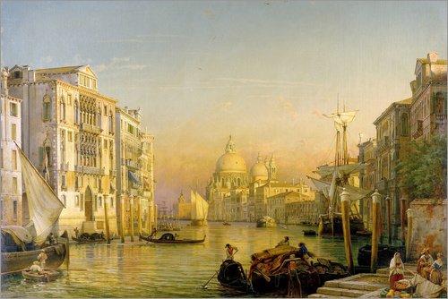 Poster 60 x 40 cm: Canale Grande in Venedig von Friedrich Nerly/ARTOTHEK - hochwertiger Kunstdruck, neues Kunstposter