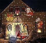 HAPPYMOOD Beamer Licht Landschaft Ferien Wasserdicht Licht Romantisch Scheinwerfer zum Weihnachten Dekoration Draussen Garten/ Garten