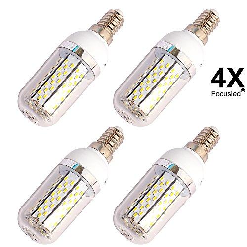 4 X Focusled® E14 7W 36 SMD 5730 LED Sehr Hell Led Leuchtmittel 620-650 Lumen AC200-240V Warmweiss