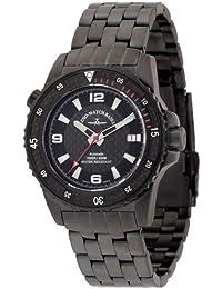 Zeno Watch Basel 6427-bk-s1-7M - Reloj analógico automático para hombre con correa de acero inoxidable, color negro