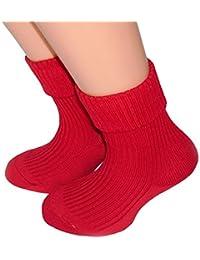 Kinder Socken mit Umschlag 100% Baumwolle