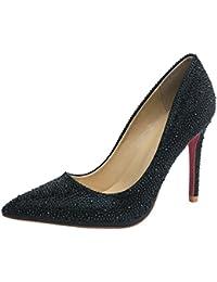Chaussures de mariage Hooh rouges femme kBuRkiG