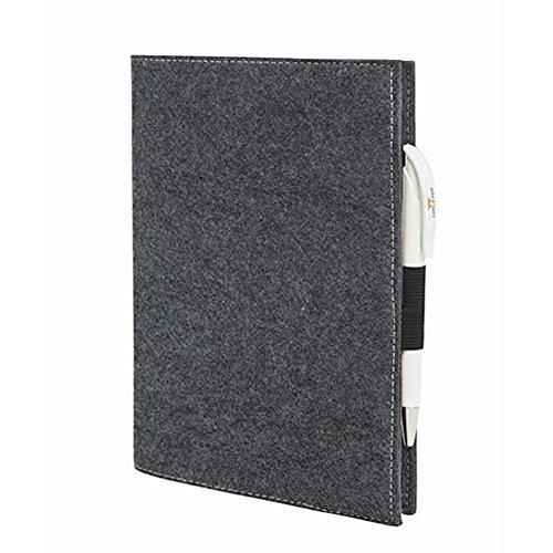 EQT-FASHION Premium Leseschutz Filz Hülle Buch für A5-Notizbücher Filz Buchhülle edler Einband Umschlag (Grau)