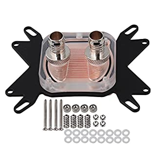BQLZR 1 pcs CPU Water Cooling Block Waterblock 50mm Copper Base Cool Inner Channel