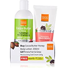 VLCC Body Lotion, Cocoa Butter Honey, 200ml with Free Insta Fair and Glow Cold Cream, 100g