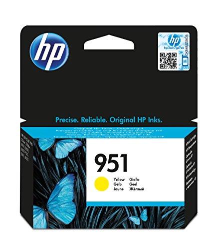 HP 951 Yellow Officejet Ink Cartridge - Cartucho de tinta para impresoras (Amarillo, 700 páginas, Inyección de tinta, 11,4 cm, 12,6 cm, 2,5 cm)