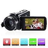 Caméscope Numérique Caméra Vidéo Full HD 1080P,FamBrow Appareil Photo 24MP 16X Zoom Numérique 3.0 Pouces 270 Degrés LCD...
