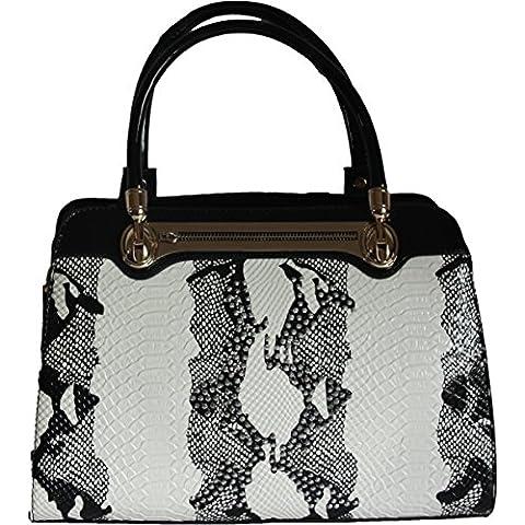 H&G Ladies Designer Tote \ spalla borsa con stampa animalier & dettaglio Diamante di Lantadeli - Parigi