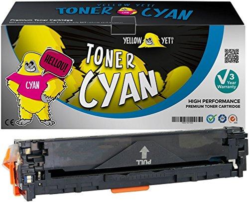 Yellow Yeti Cyan Premium Toner kompatibel für HP Laserjet Pro 200 MFP M276nw M276n M251nw M251n CP1525n CP1525nw CM1415fn CM1415fnw CM1312 CM1312nf CM1312nfi CP1215 CP1217 CP1514n CP1515n CP1518ni - Blau Canon Toner