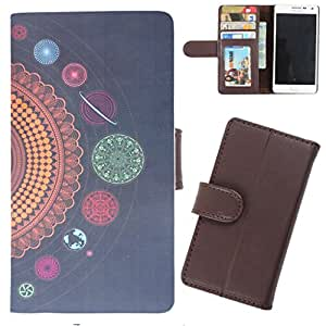 DooDa - For Sony Xperia SP PU Leather Designer Fashionable Fancy Wallet Flip Case Cover Pouch With Card, ID & Cash Slots And Smooth Inner Velvet With Strong Magnetic Lock