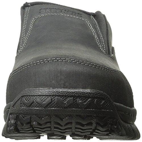 Skechers Work Mens Hartan Steel Toe Slip-On Shoe Black