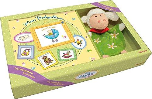 Geschenk-Set Mein Babyalbum. Wattietes Buch & Handpuppe Schaf. (Miniwelt)