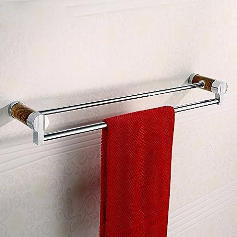 KHSKXAccesorios de hardware Toallero toallero doble baño bronce