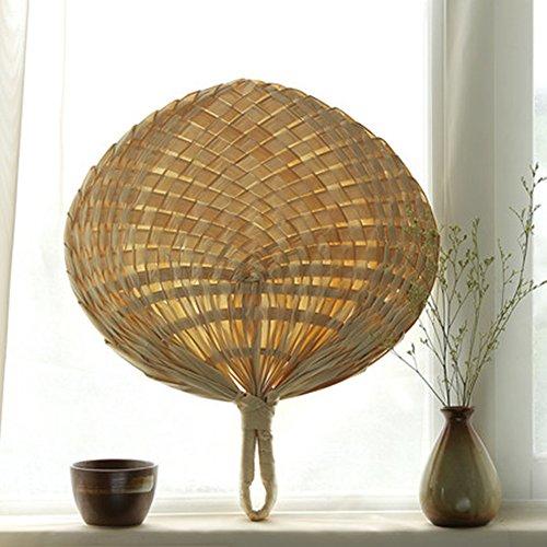 PROKTH handgefertigt Fan, Chinesischer Stil Natural handmade Fan Palmblatt Cool Fan Home Dekoration (Fans Programm Hochzeiten Für)