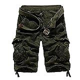 Sunshey Shorts Bermuda 1/2 Herren Sommer Vintage Look 2018 Freizeit Hose Kurz (Armeegrün, 32)