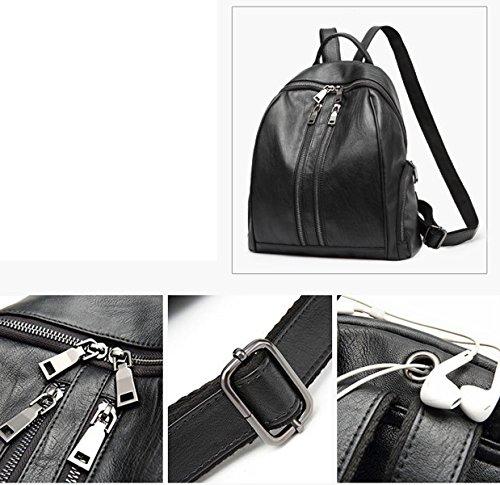 BAAFG Frauen Schulter Rucksack Student Bag Casual Fashion Travel Bag Black
