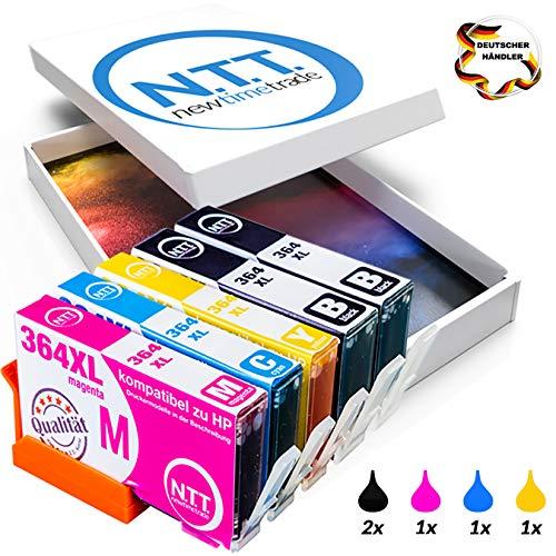 NTT 5 XXL kompatible Druckerpatronen als Ersatz für HP 364XL HP 364 HP364 XL 364XL Multipack Photosmart (2x Schwarz, 1x Cyan, 1x Magenta, 1x Yellow) (Hp Drucker Tinte 5512)