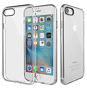 iPhone 7 Case, AICase [Anti-Scratches] [Drop Protection] Soft TPU Gel [Ultra Slim] Flexible Premium Soft Bumper Rubber Protective Case Cover for Apple iPhone 7(2016)Clear (Clear)