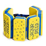 Aqua Speed FLOTTAZIONE Belt | 6-Piece | Regolabile | Galleggiabilità | Nuotare Aiuto | Cardiovascolare | Fitness Acquatico | Aqua Riabilitazione | Esercizio Giallo/Blu
