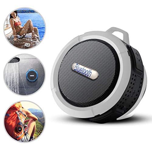 i-Tronixs Bluetooth-Lautsprecher für Karbonn Quattro L51 HD Loud HD Sound, Dusche Lautsprecher mit Saugnapf und stabilem Haken, kompatibel mit iOS, Android, PC, Pad, Weiß