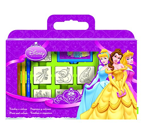 Multiprint - 7660 - Loisirs Creatif - Valisette 7 Tampons - Disney Princesses
