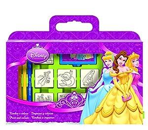 MULTIPRINT 7660 Disney - Maletín con 7 tampones, diseño de las princesas Disney