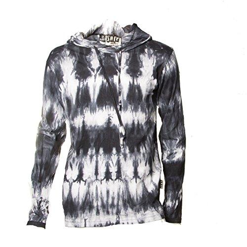 KUNST UND MAGIE Sure Hoody Kapuzenshirt Tie Dye Batik Shirt, Größe:M, Farbe:Black/Schwarz -