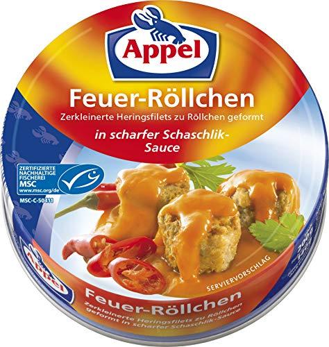 Appel Feuerröllchen, 12er Pack Konserven, Fisch in Schaschliksauce