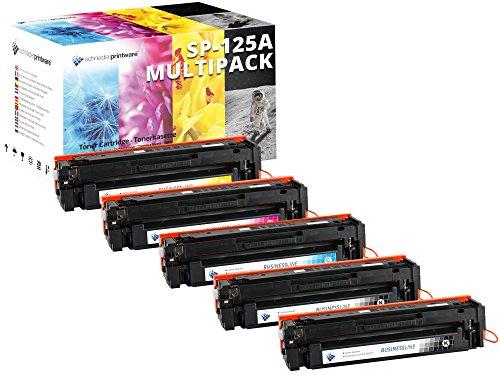5 Schneider Printware Toner | 40 Prozent mehr Leistung | kompatibel zu HP 125A für HP Color Laserjet CM1312MFP CP1210 CP1215 CP1514n CP1515n CP1518ni CP1515