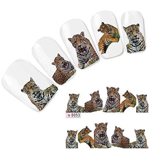 ail Art Aufkleber Löwe Lion Leopard Nagel Sticker (Lion Tattoo)