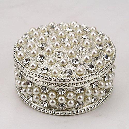 Vintage Schmuckdose Perlendose mit Kristallen