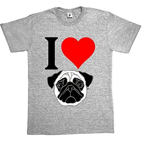 Fancy A Snuggle -  T-shirt - Collo a U  - Maniche corte - Uomo Grigio