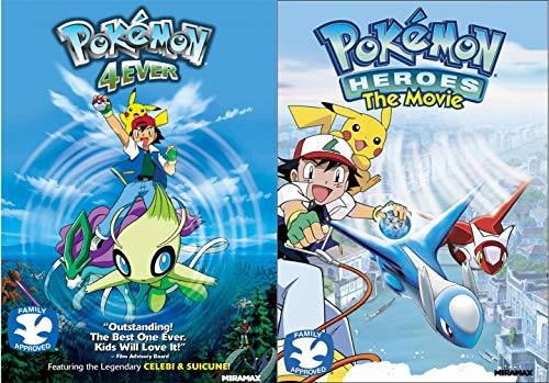 Forever Pokémon DVD 2 Pack Heroes the Movie + 4Ever join forces