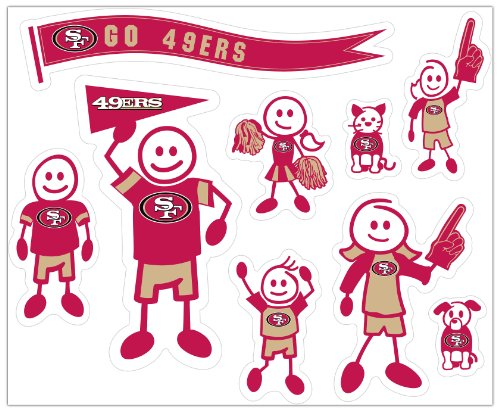 Siskiyou NFL Large Family Aufkleber-Set 49ers-pet-set