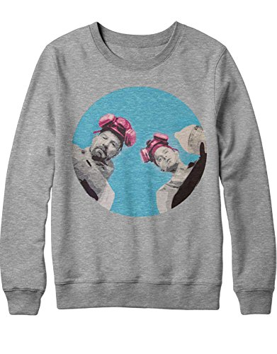 Sweatshirt Cook Walter White Jesse Pinkman Crystal Meth Hype C980020 Grau M (Breaking Bad Crystal Meth Kostüm)
