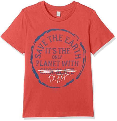ESPRIT Jungen T-Shirt RL1074402, Rot (Red Orange 383), 128 (Herstellergröße: 128/134) (Rot Orange Shirt)