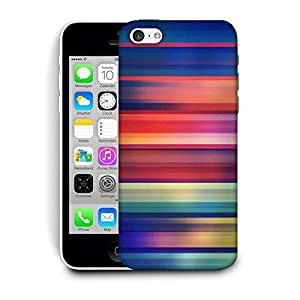Snoogg Horizontal Multicolor Design Printed Protective Phone Back Case Cover For Apple Iphone 5C